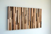 Wood Wall Installation Reclaimed Wood Wall Art by ...