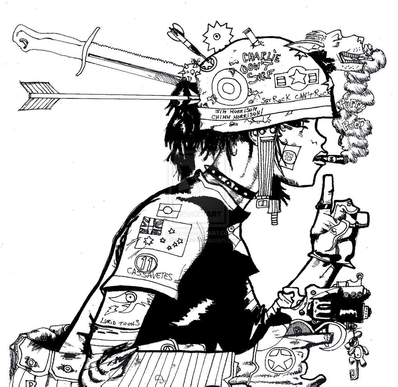 Tank Girl And Booga Wallpaper Tank Girl Coloring Page Google Search A Curated Group