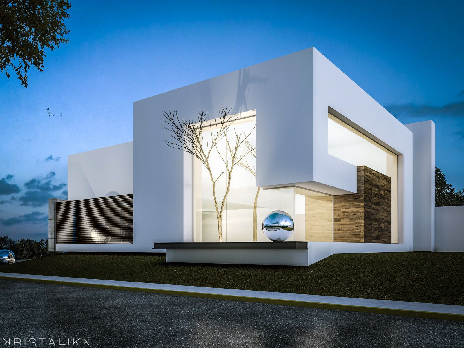 Minimal house kristalika arquitecture and interior
