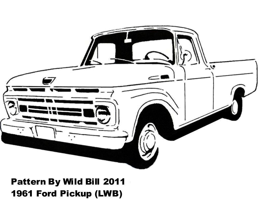 1955 ford car sketch