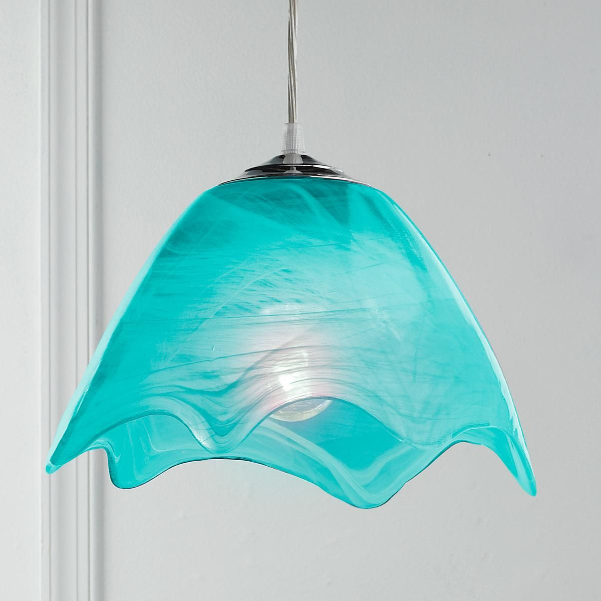 Green Glass Pendant Light Wavy Glass Pendant Light Glass Pendants