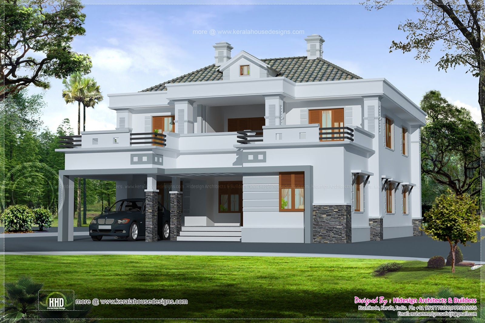 Modern Double Storey Houses Small House Plan House Floor Plans Modern Double Storey