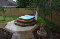 landscaping hot tub pictures | ... -Solutions-Custom ...