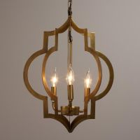 Gold Quatrefoil 3-Light Pendant Lamp | Alternative ...