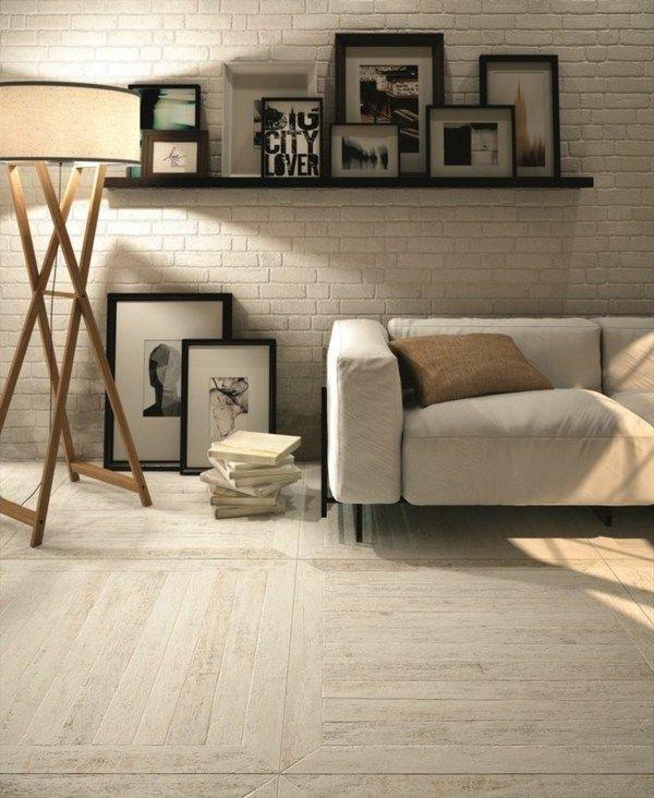 Parallel Würfel Parkett helles Holz Ziegelwand Wand Pinterest - helle holzmobel trend naturliche wahl fur zuhause