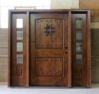 rustic front doors | Rustic Exterior Doors Wide | Front ...