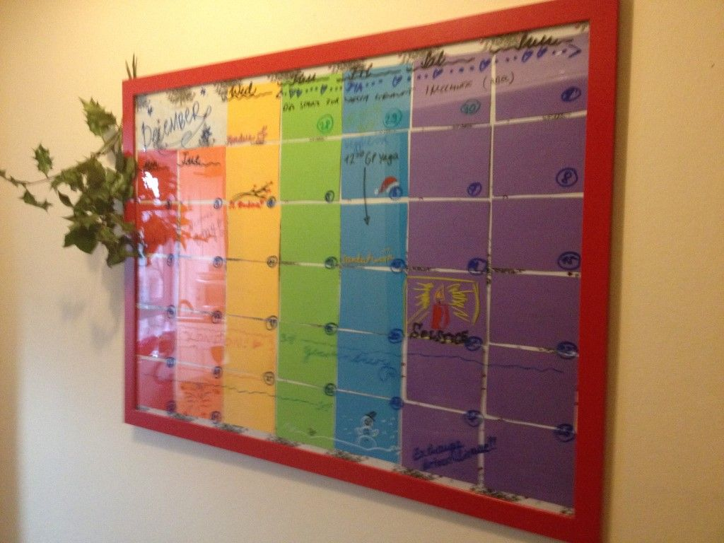 Diy Picture Frame With Glass Diy Wall Planner All You Need Is A Large Picture Frame