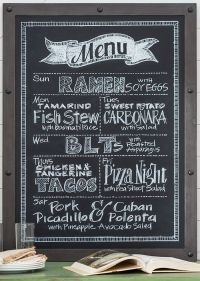 DIY Blackboard Menuthe stylish way to meal plan ...