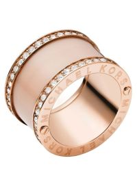 MICHAEL KORS MKJ4332 Rose Gold & Blush Acetate Pave Barrel ...