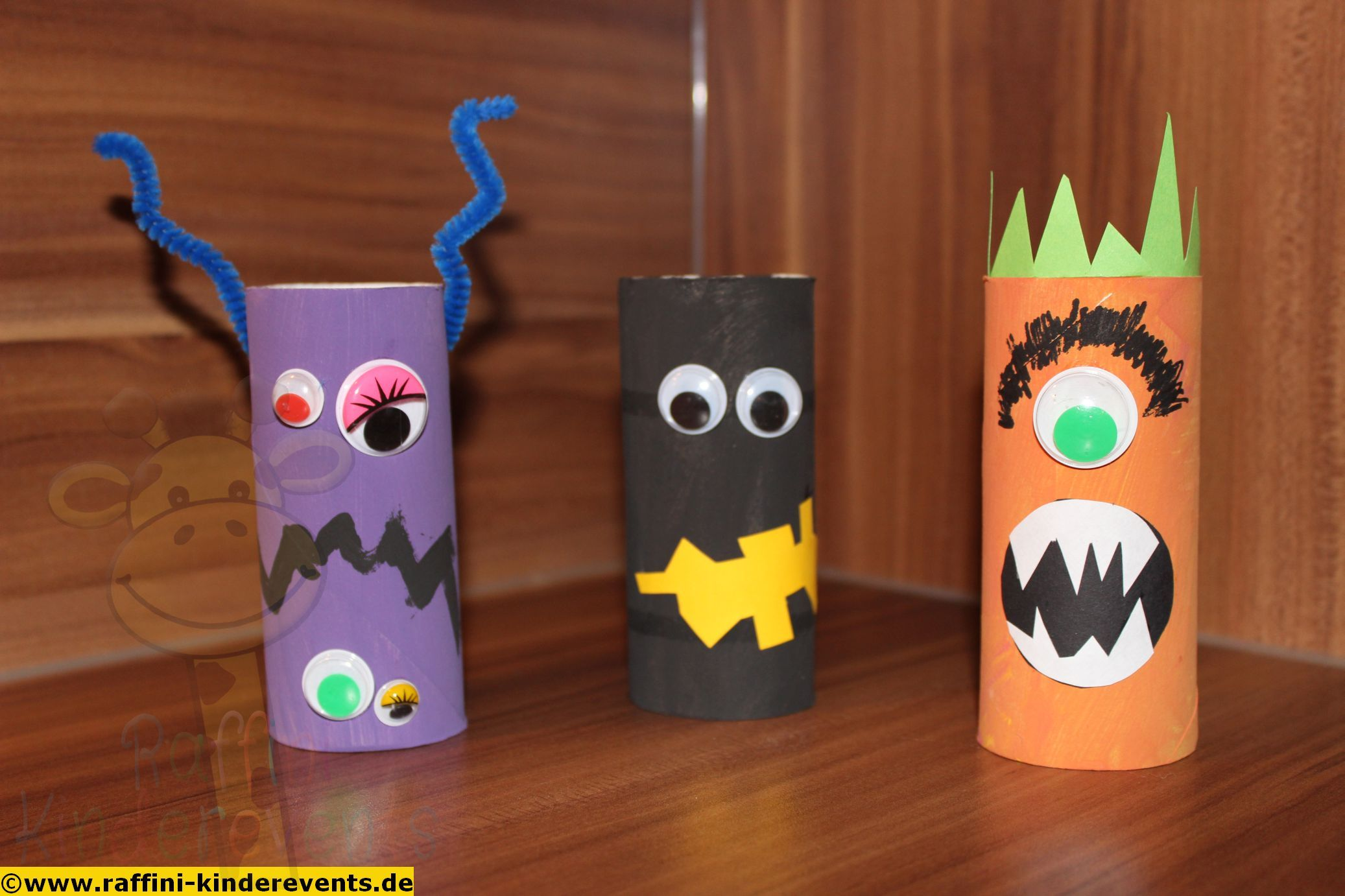 Cute Halloween Monster Recycling Craft For Kids Recycling - Basteln Recycling
