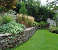 Dry laid Pennsylvania field stone wall.   Tenafly Elegant ...