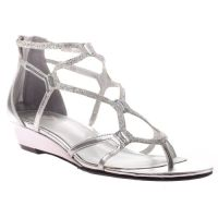 girl, tween, preteen, dressy silver sandal, shoe for ...