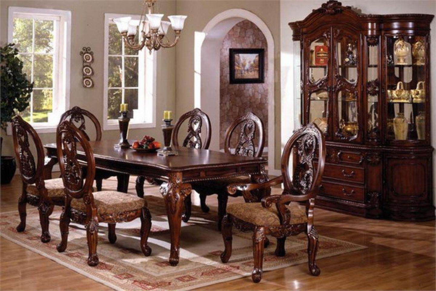 Fancy Dining Room Sets The Elegant Traditional Tuscany Dining Table Set Is The