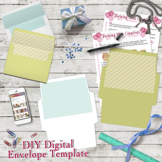 DIY Envelope Template, A7 5x7 Envelope Template, Digital Download - sample 5x7 envelope template