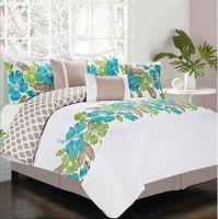 Hawaiian Island Hibiscus Tropical Queen Comforter Set (7 ...
