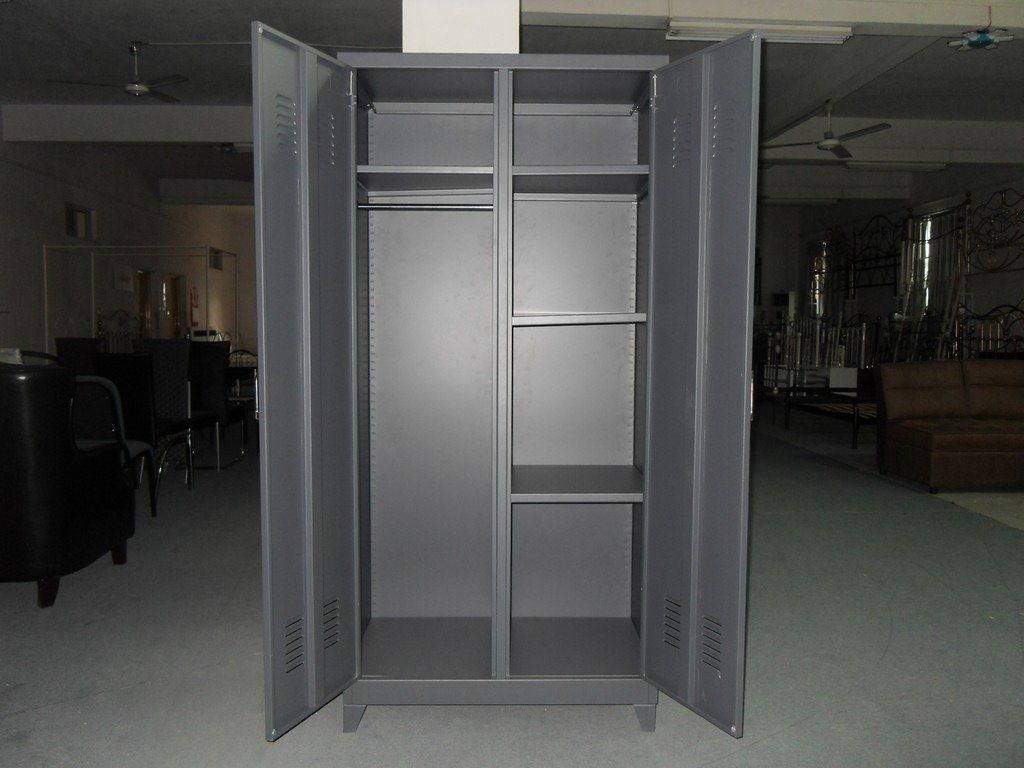 Armoire Métal Unassembled Desgin Double Swing Doors Household Steel