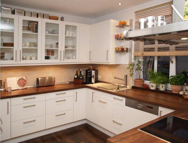 weiße küche dunkle arbeitsplatte wandfarbe - Google-Suche - weise moderne kuche