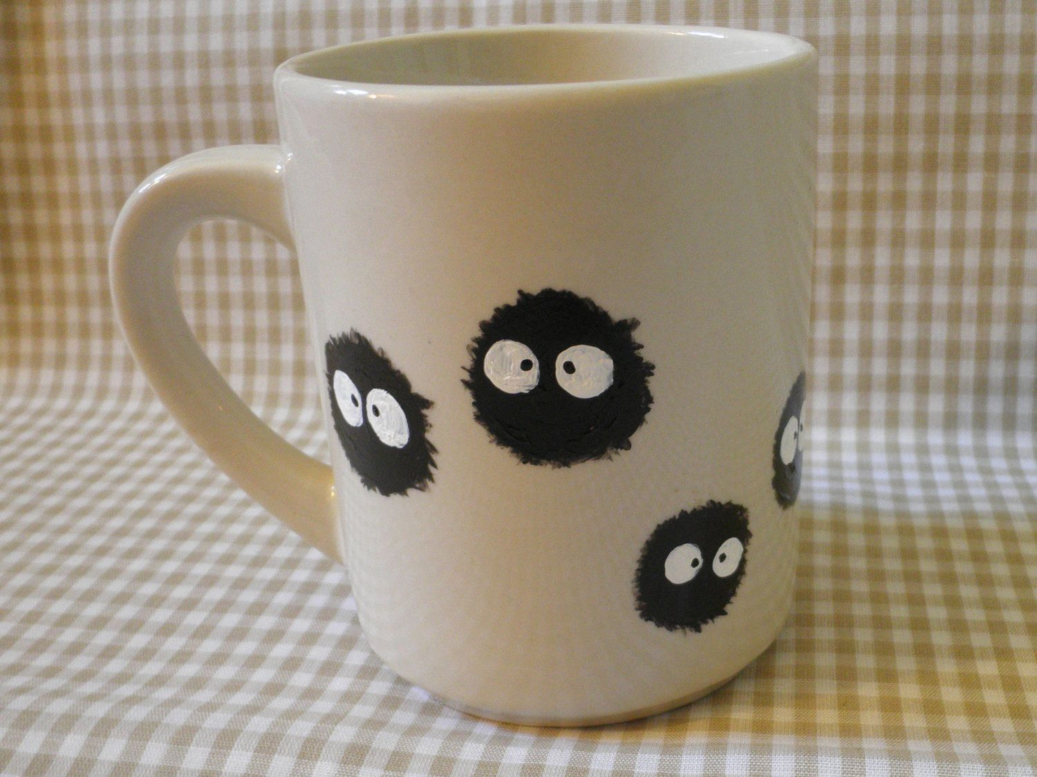Coffee Art Etsy Soot Sprite Hand Painted Mug 14 00 Via Etsy I Can