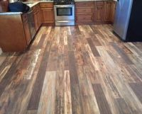 Laminate wood flooring in kitchen- light, medium and dark ...
