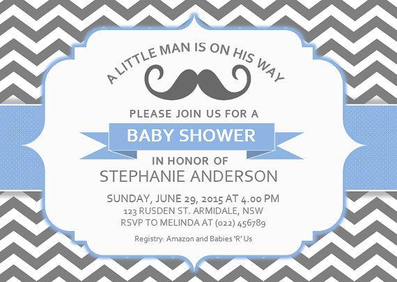 DIY Printable MS Word Baby Shower Invitation Template by INKPOWER - baby shower invitations for word templates