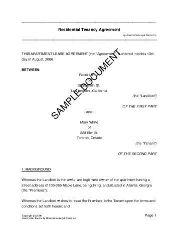 Sample Lease Agreement Form Printable Sample Lease Agreement Form - sample horse lease agreement template