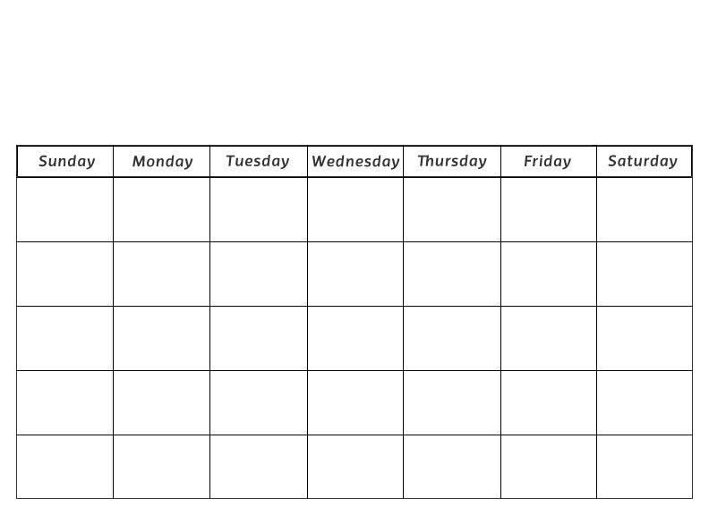 Calendar Blank Month Pages preschool calendar printable - preschool calendar template