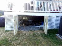 Storage under deck   Home   Backyard   Pinterest   Decking ...