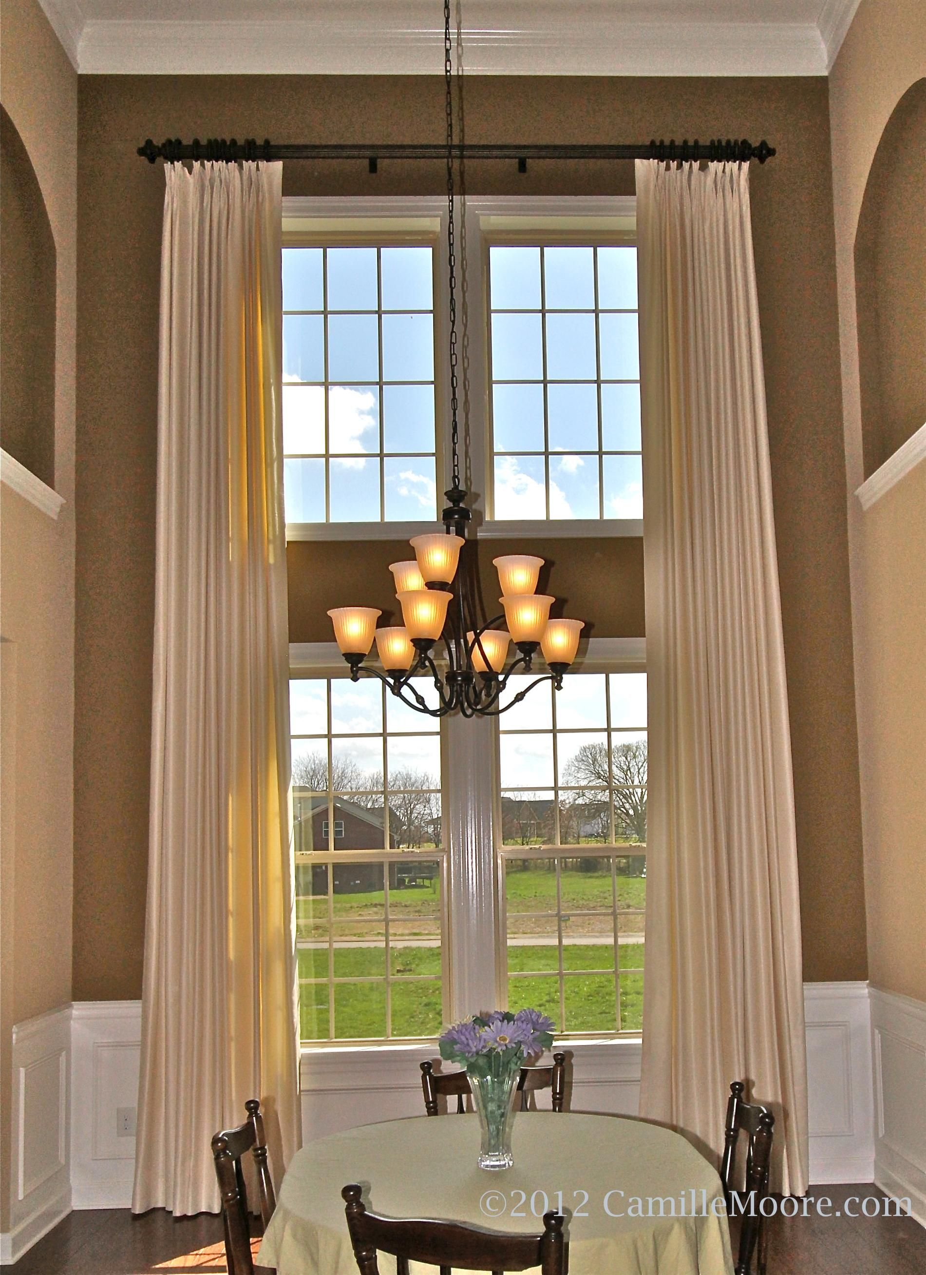 drapes for two story windows