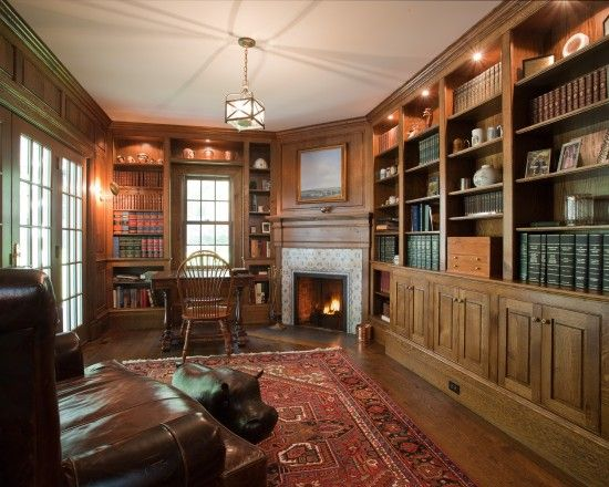 Ultimate home library--English Country Design, Pictures, Remodel - home library design