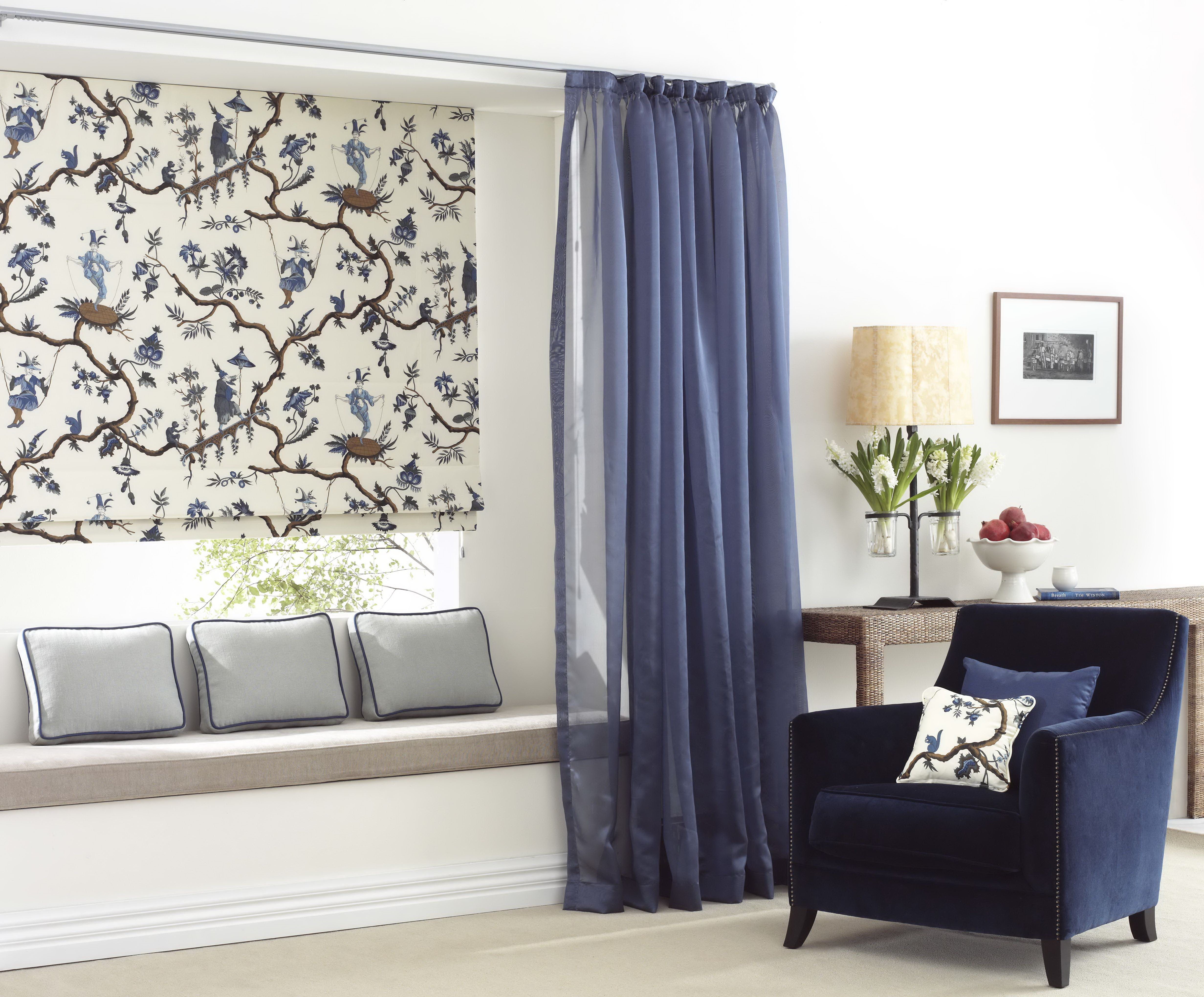 Diy Blinds Online Bonded Blind With Sheer Curtain Combination For More