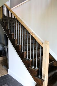 iron pipe stair railings and rustic rails http ...