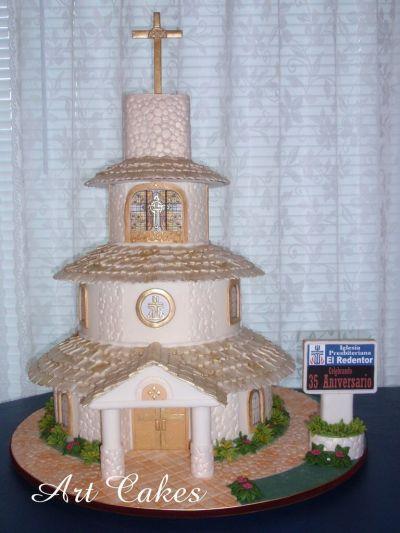 CHURCH Anniversary Cake | My Cakes | Pinterest