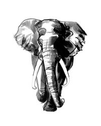 elephant painting, african art print, boyfriend present ...
