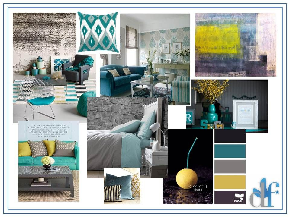 grey and teal room ideas Grey Teal Interior Design The Design - teal living room ideas