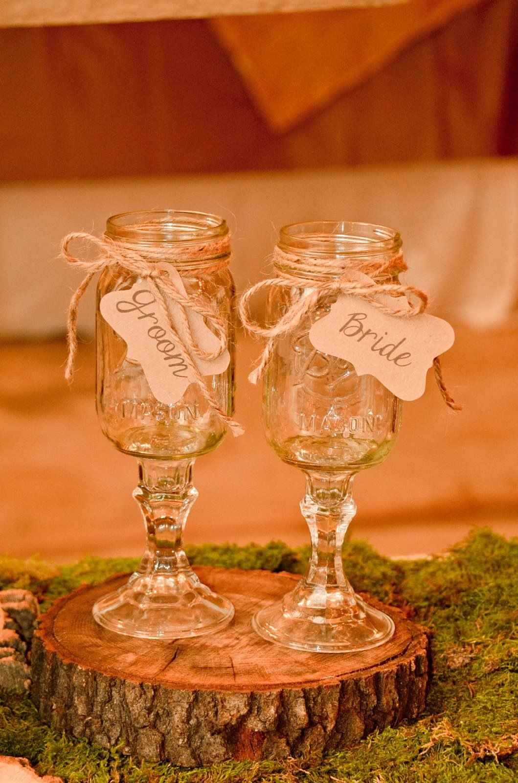 Cute Glassware Rustic Wedding Toasting Glasses Rustic Bride Pinterest