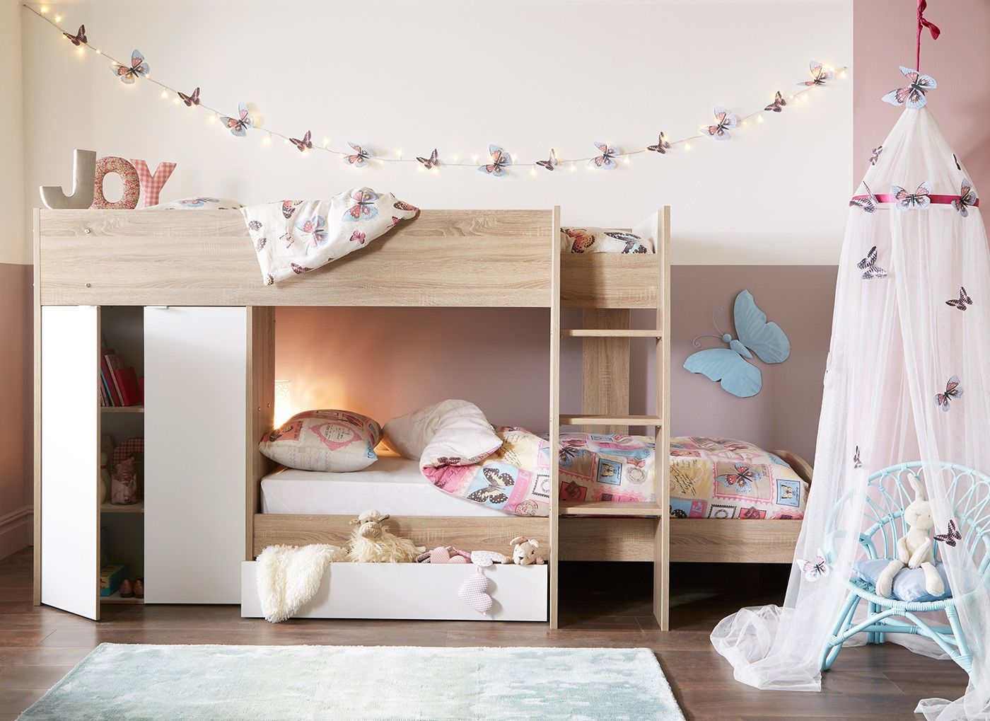 Double Loft Bed For Kids Finley Bunk Bed Oak And White Bunk Bed Kids Rooms And