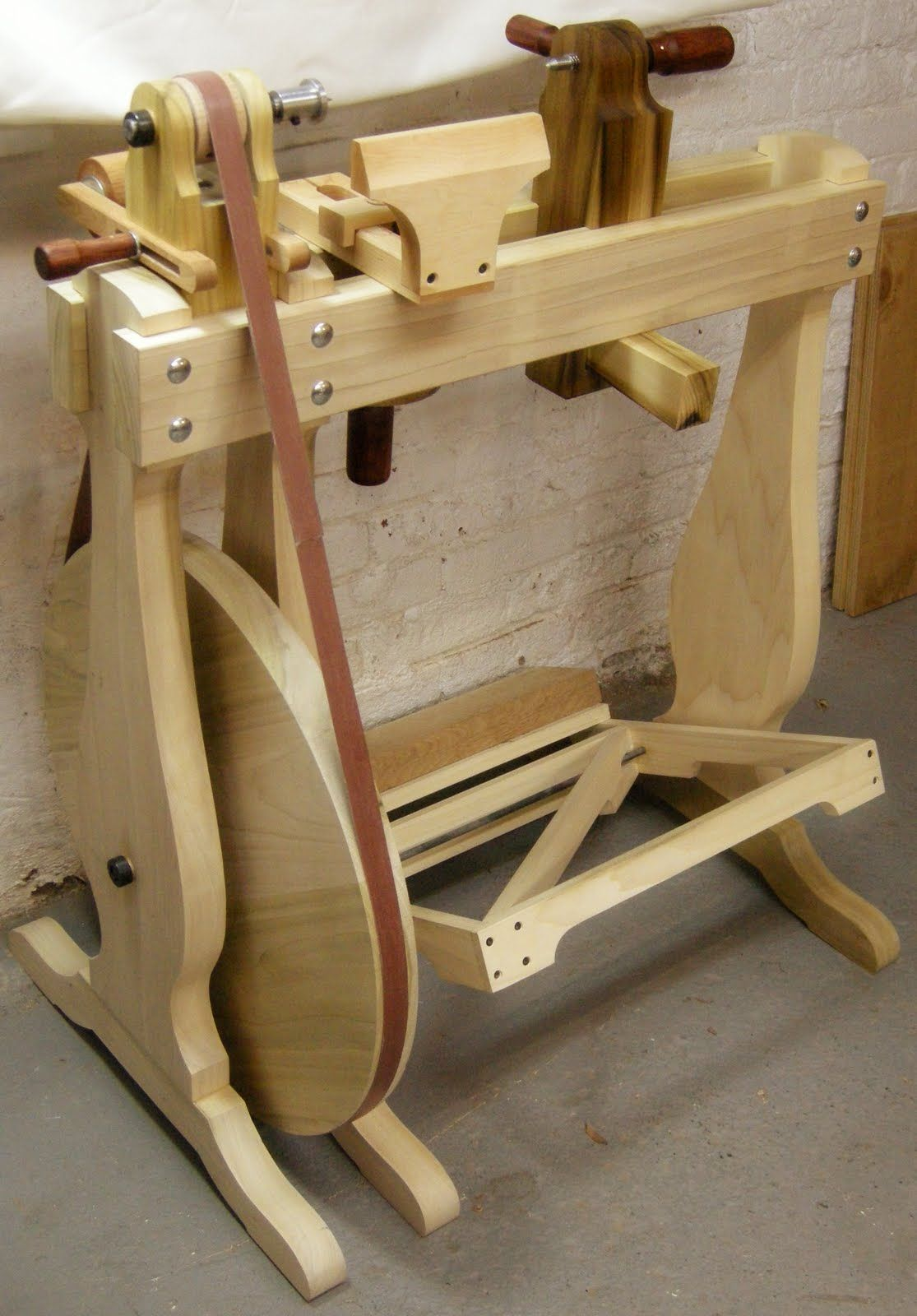 Cool Machines To Build Homemade Treadle Wood Lathe Plans Homemade Ftempo