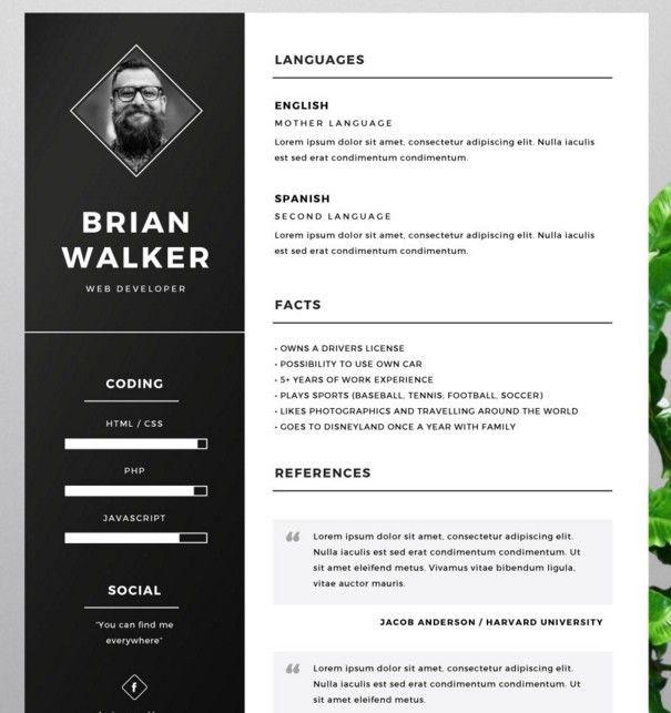 Free Resume Template for Word, Photoshop \ Illustrator CVu0027s - fashion resume templates