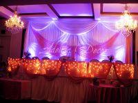 Sweet Sixteen Pink & White Drape Backdrop, Uplighting ...