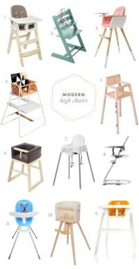 Modern High Chairs | Healthy Baby & Mom Products & Tips ...