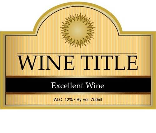 Editable Label PDF great for making custom wine bottle labels and - free wine bottle label templates