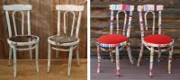 before & after shabby-chic fabric wrapped chair make-over ...