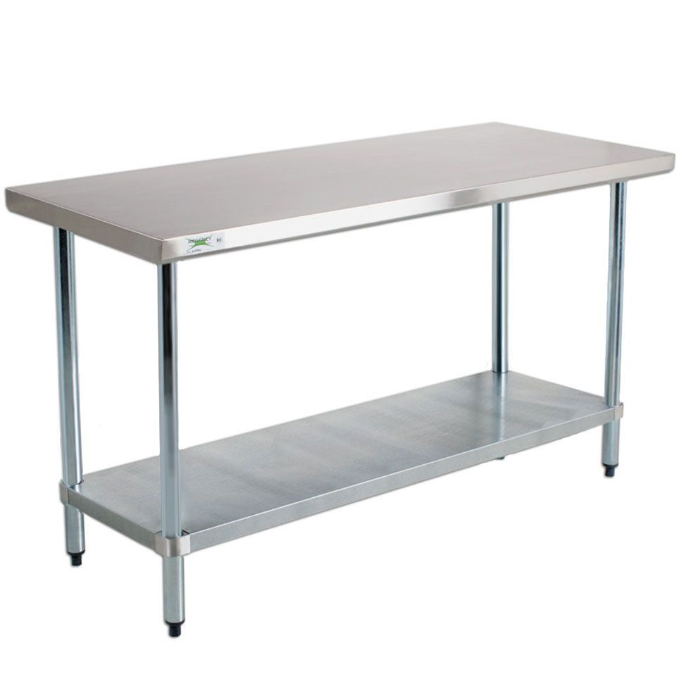 kitchen work tables Regency 18 Gauge Stainless Steel Commercial Work Table 30 72 with