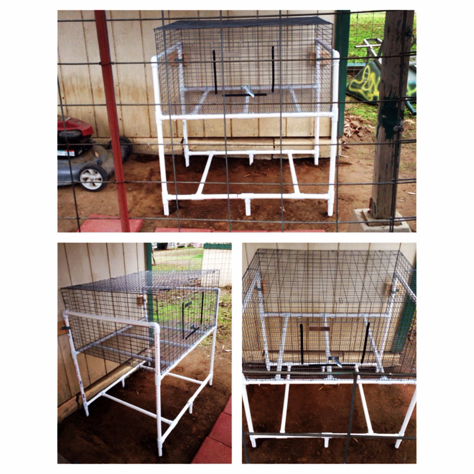 Diy Cage For Rabbit Diy Pvc Rabbit Wire Cage Rack Rabbits Pinterest