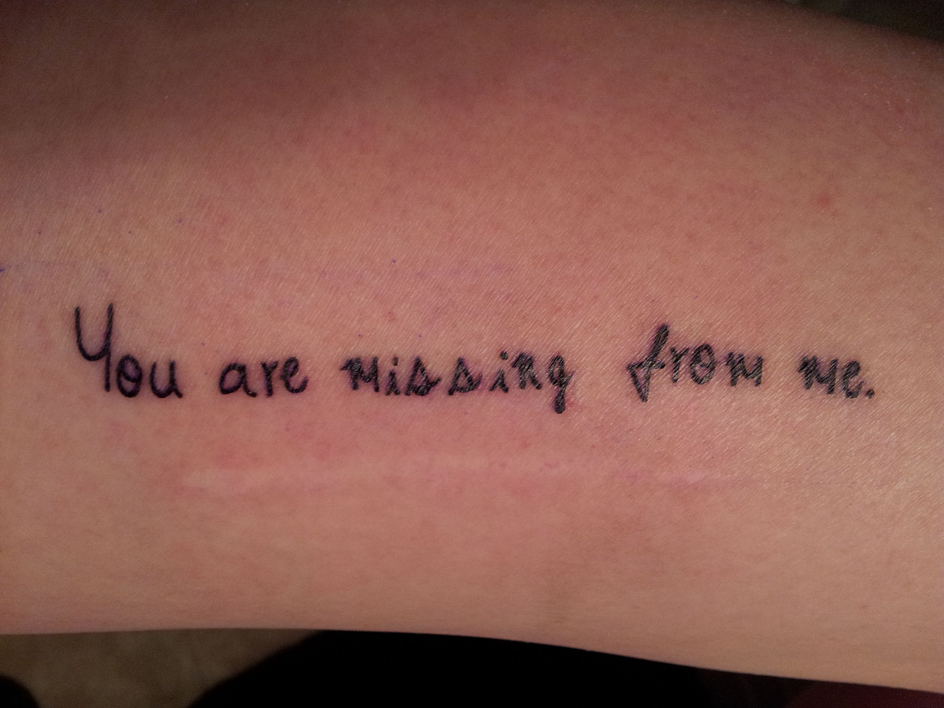 Duchenne Muscular Dystrophy Quotes Quotyou Are Missing From Me Quot Tattooed Above My Muscle Biopsy