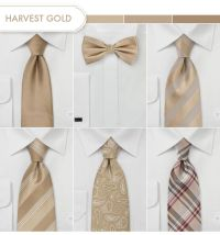 Groom and Groomsmen Ties in Harvest Gold. | Wedding Color ...