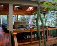 Fantastic Covered Deck Wooden Deck Flooring In Traditional ...