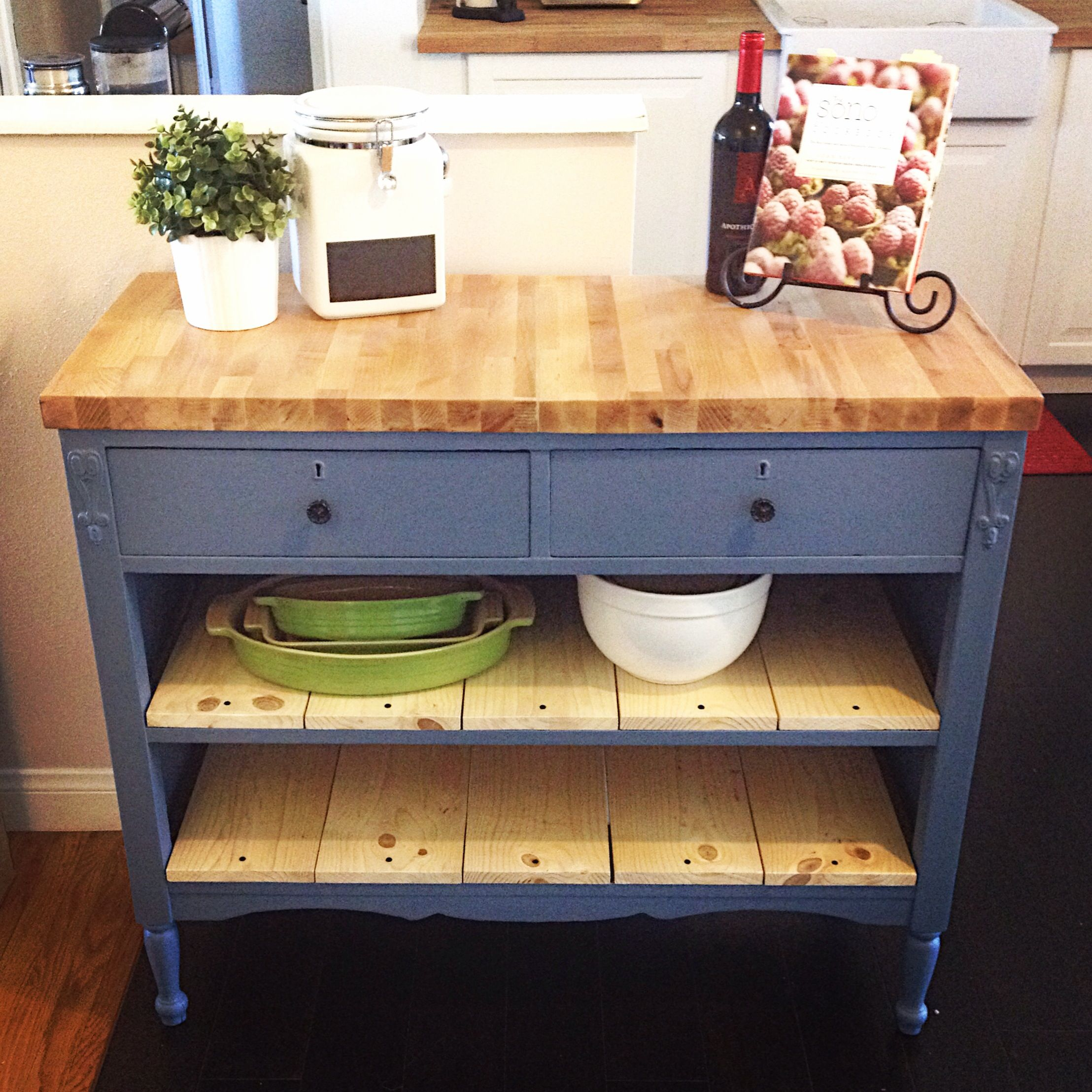 Kitchen Island Made From A Dresser kitchen island made from old table