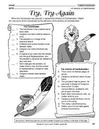 Articles of Confederation vs Constitution | Teaching ...