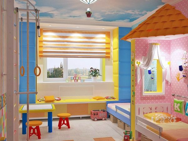 Kinderzimmer komplett gestalten - Junge und Mädchen teilen ein - babyzimmer madchen und junge